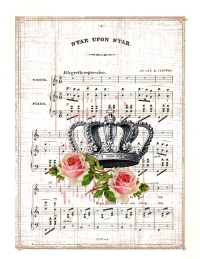 print and frame crown with roses