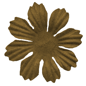 brown prima style flower