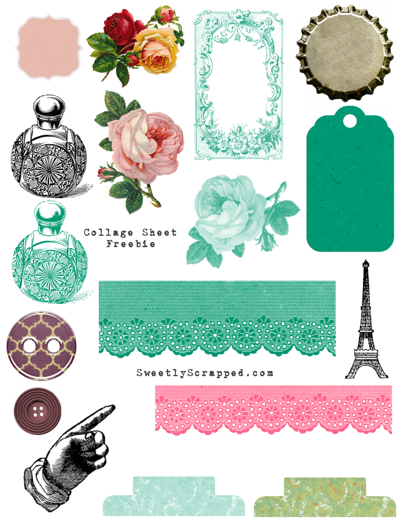 free printable collage sheets sweetly scrapped s free