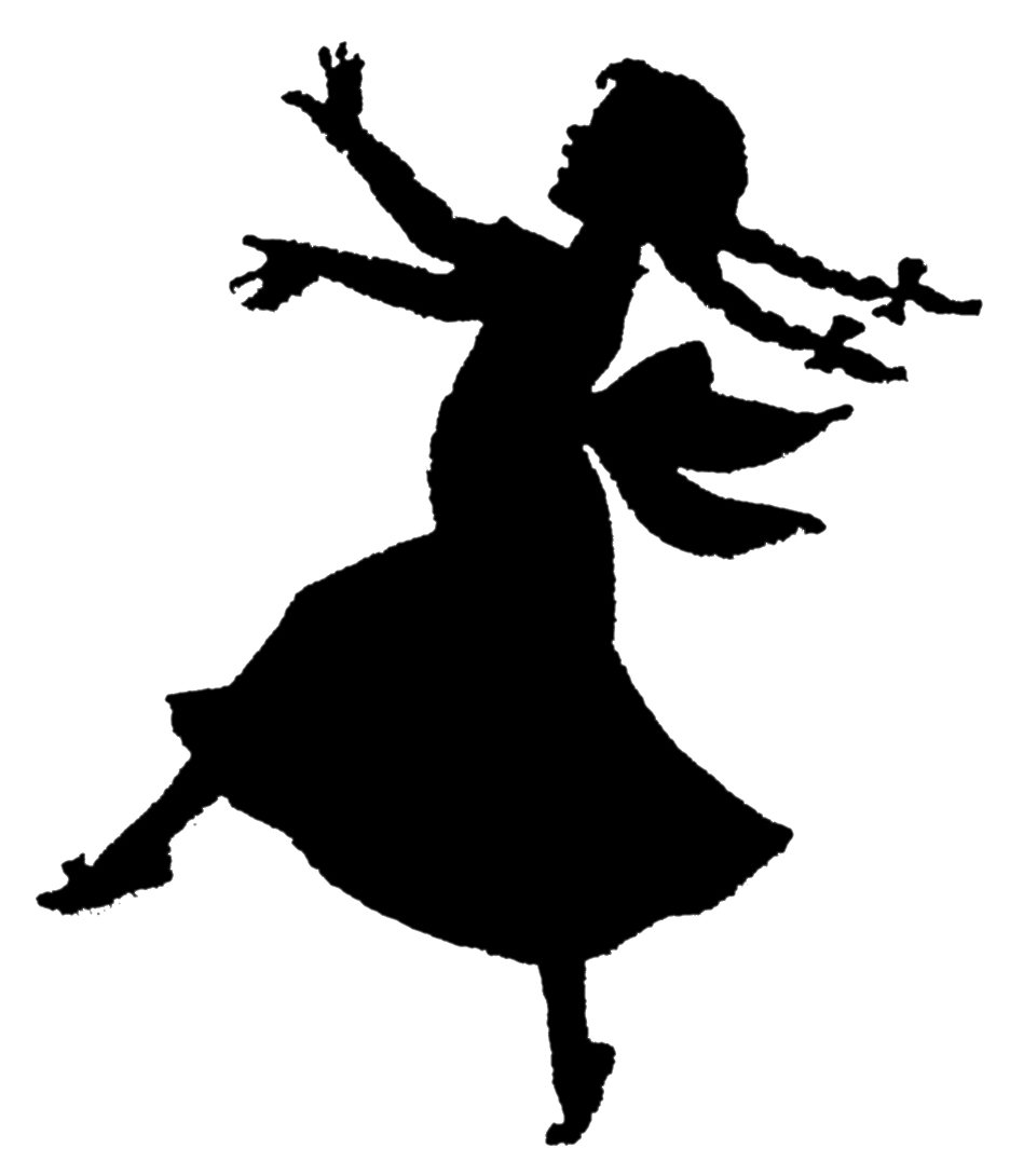 dancing girl silhouette - photo #2