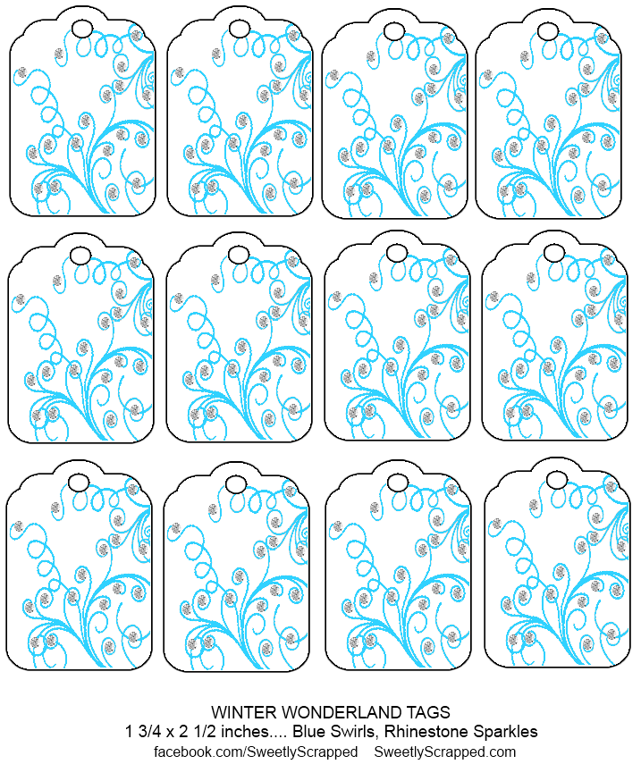 Free printable winter themed tags - Sweetly Scrapped 's Free ...